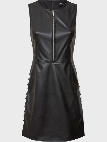 Платье на молнии - черное Armani Exchange