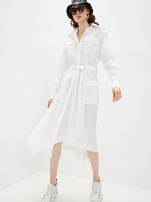 Белое платье-рубашка Iceberg