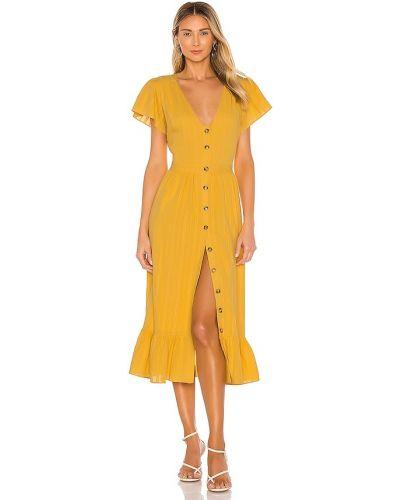 Желтое платье свободного кроя с подкладкой The Jetset Diaries