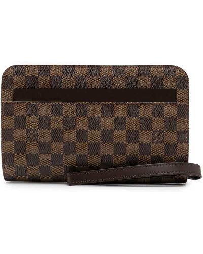 Brązowa kopertówka skórzana Louis Vuitton