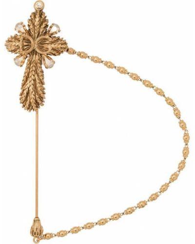 Брошь золотой желтый Dolce & Gabbana