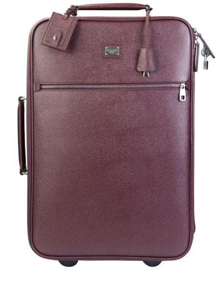 Красный кожаный чемодан на молнии Dolce & Gabbana