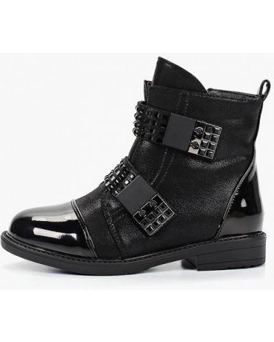 Ботинки черные капитошка