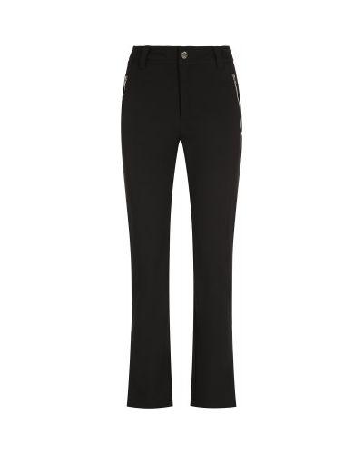 Черные зауженные брюки софтшелл с подкладкой Luhta