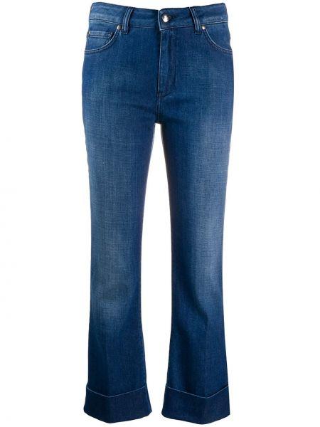 Укороченные джинсы расклешенные на пуговицах Fay