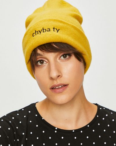 Зимняя шапка с отворотом желтый Medicine