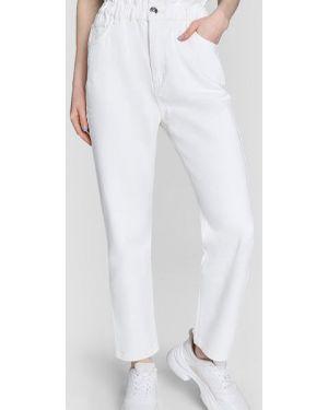 Пляжные белые джинсы с высокой посадкой на резинке на пуговицах Ostin