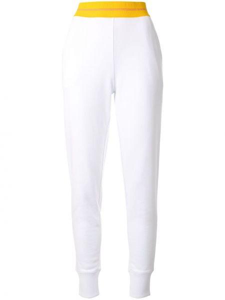 Sportowe spodnie z wysokim stanem białe Ck Calvin Klein