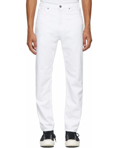 Białe jeansy z paskiem Museum Of Peace And Quiet