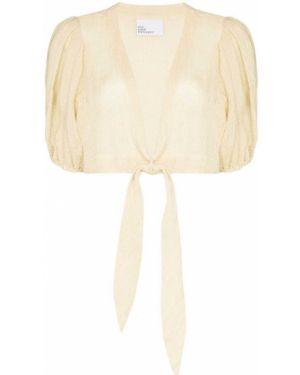 Блузка с запахом с V-образным вырезом с короткими рукавами Lisa Marie Fernandez