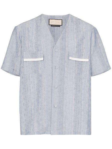 Koszula krótkie z krótkim rękawem klasyczna z paskami Prévu