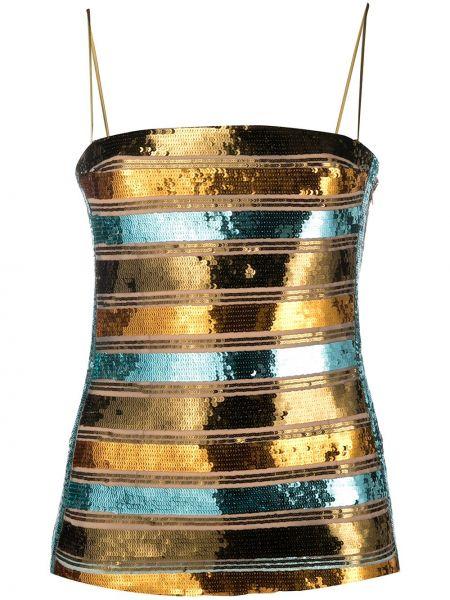 Brązowy złoty top Galvan