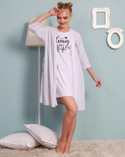 Рубашка в полоску - серая Vienetta Secret