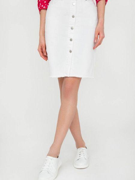 Джинсовая юбка белая расклешенная Finn Flare