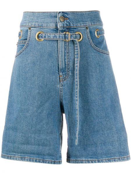 Джинсовые шорты с завышенной талией с карманами Philosophy Di Lorenzo Serafini