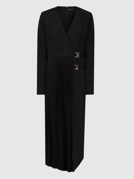 Шерстяное платье миди - черное David Koma