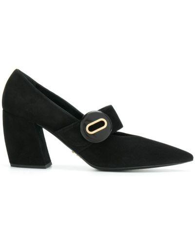 Туфли на высоком каблуке на каблуке кожаные Prada