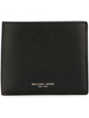 Кожаный бумажник - черный Michael Kors