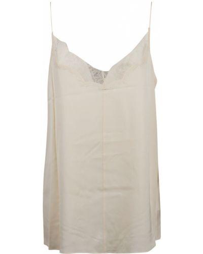 Biały top koronkowy sznurowany Calvin Klein