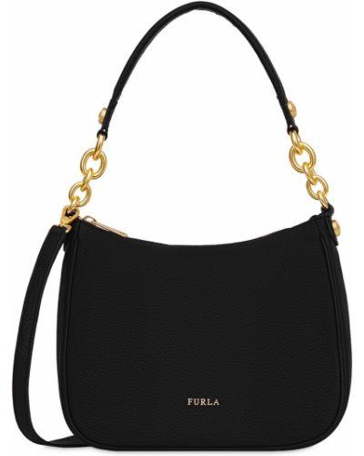 Кожаная сумка на цепочке нейлоновая Furla