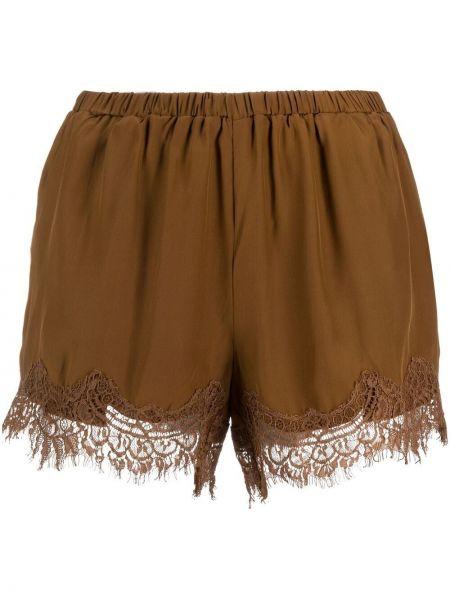 Кружевные коричневые хлопковые шорты Gold Hawk