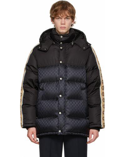Черная длинная куртка Gucci