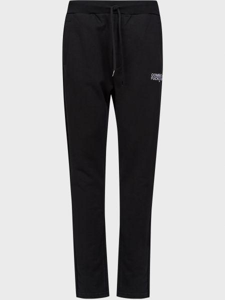 Хлопковые спортивные брюки - черные Comme Des Fuckdown