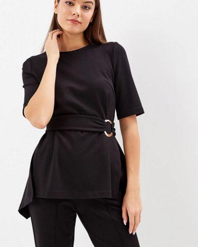Блузка с коротким рукавом черная Ruxara