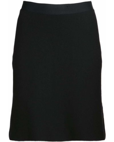 Шерстяная юбка мини - черная Bottega Veneta