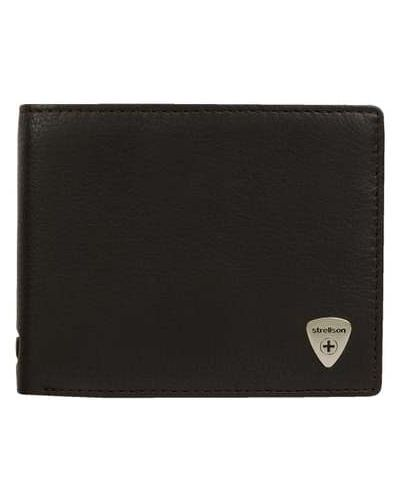 Brązowy portfel skórzany Strellson