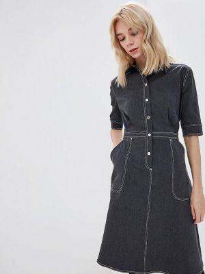 Джинсовое платье серое осеннее Ruxara