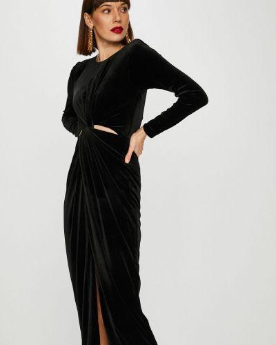 Платье макси однотонное велюровое Trendyol