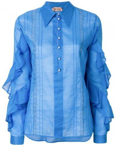 Классическая рубашка с оборками с длинным рукавом N21