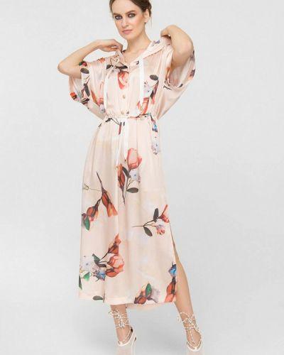 Бежевое весеннее платье Lo