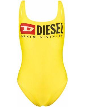 Слитный купальник с открытой спиной с вырезом Diesel