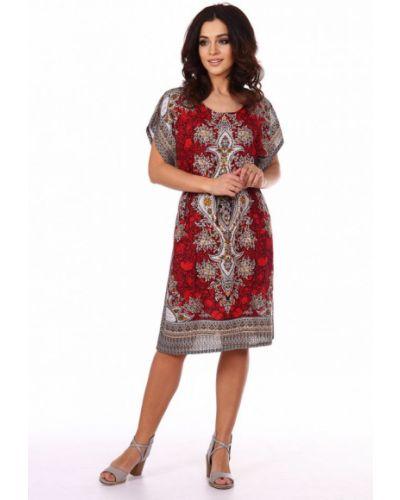 Красное платье из штапеля инсантрик