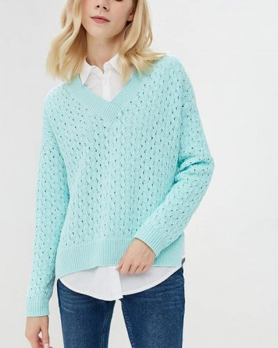Пуловер свободного кроя бирюзовый Free Age