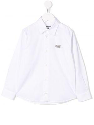 Белая рубашка на пуговицах Philipp Plein Junior