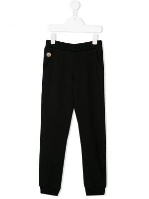 Sportowe spodnie z kieszeniami elastyczne Philipp Plein Junior