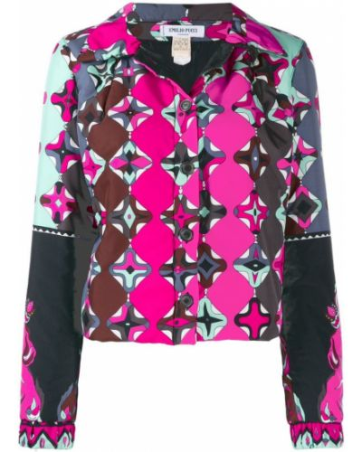 Классическая розовая облегченная куртка Emilio Pucci Pre-owned