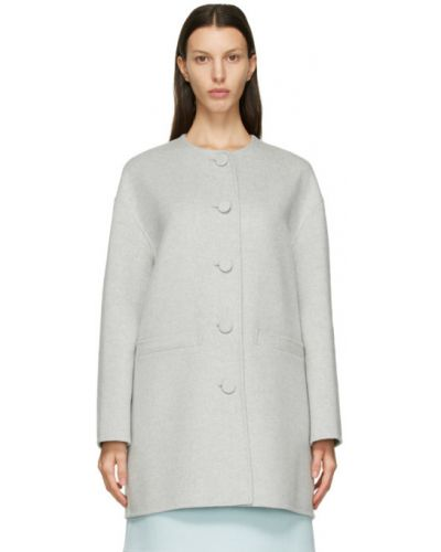 Кашемировое длинное пальто с воротником с карманами Marc Jacobs