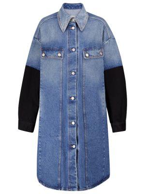 Хлопковая джинсовая куртка - черная Mm6 Maison Margiela