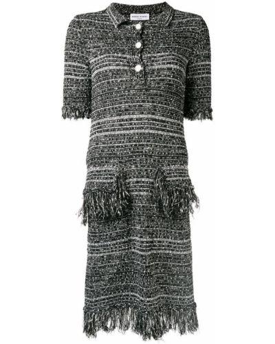 Платье миди с короткими рукавами - белое Sonia Rykiel
