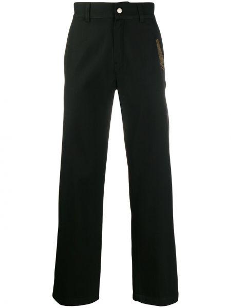 Черные брюки карго с поясом на кнопках для беременных Adish