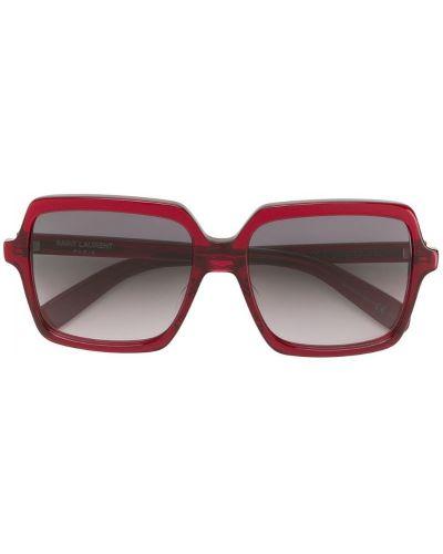 Красные солнцезащитные очки Saint Laurent Eyewear