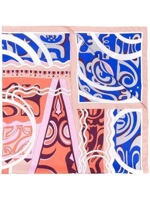 Szalik prążkowany jedwab Emilio Pucci