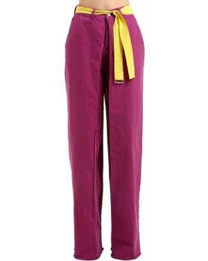 Широкие джинсы с завышенной талией - желтые Aalto