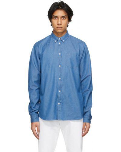 Niebieska koszula jeansowa z długimi rękawami Norse Projects
