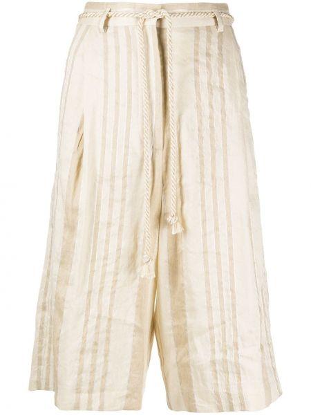 Шелковые шорты с поясом свободного кроя Forte Forte