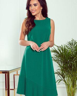 Zielona sukienka materiałowa oversize Numoco